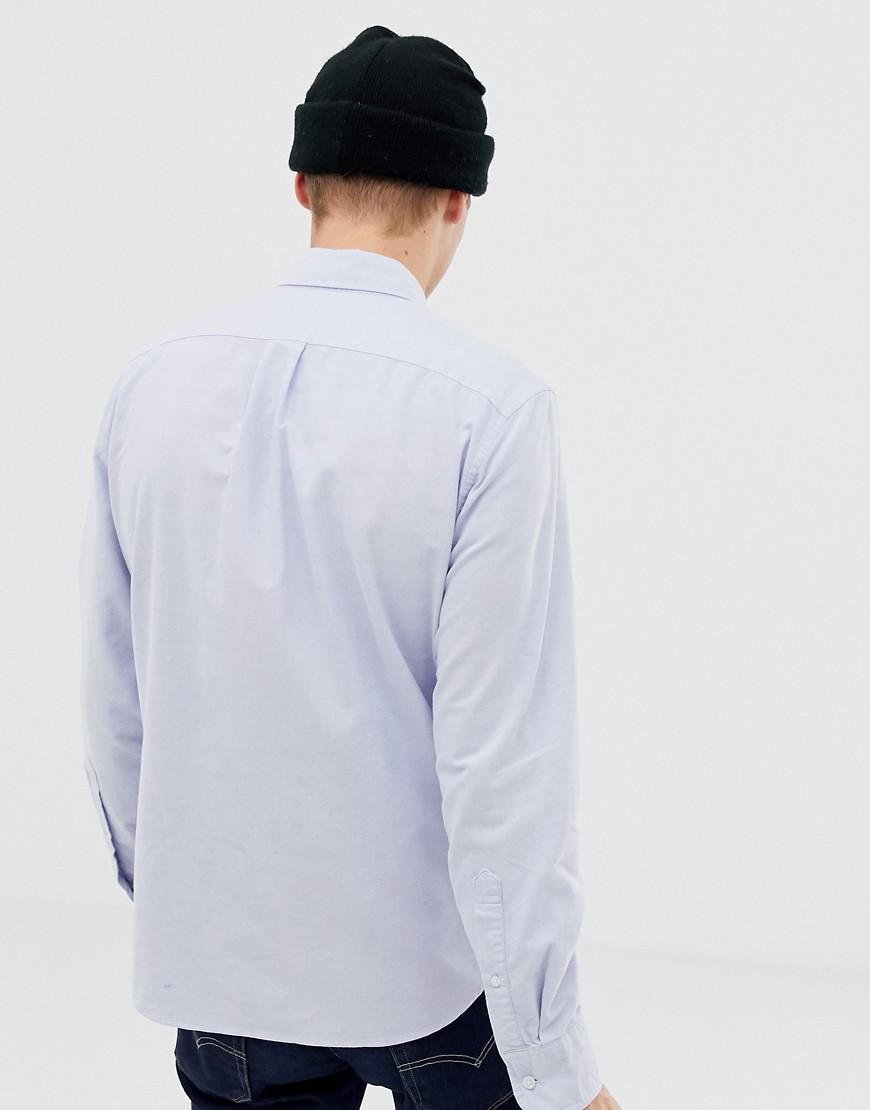 J.Crew Mercantile Denim Flex Slim-fit Oxford-overhemd Met Knoopsluiting in het Blauw voor heren