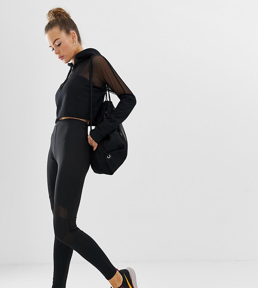 5ebdc037e2d22 Missguided Gym legging Short With Mesh Insert In Black in Black - Lyst