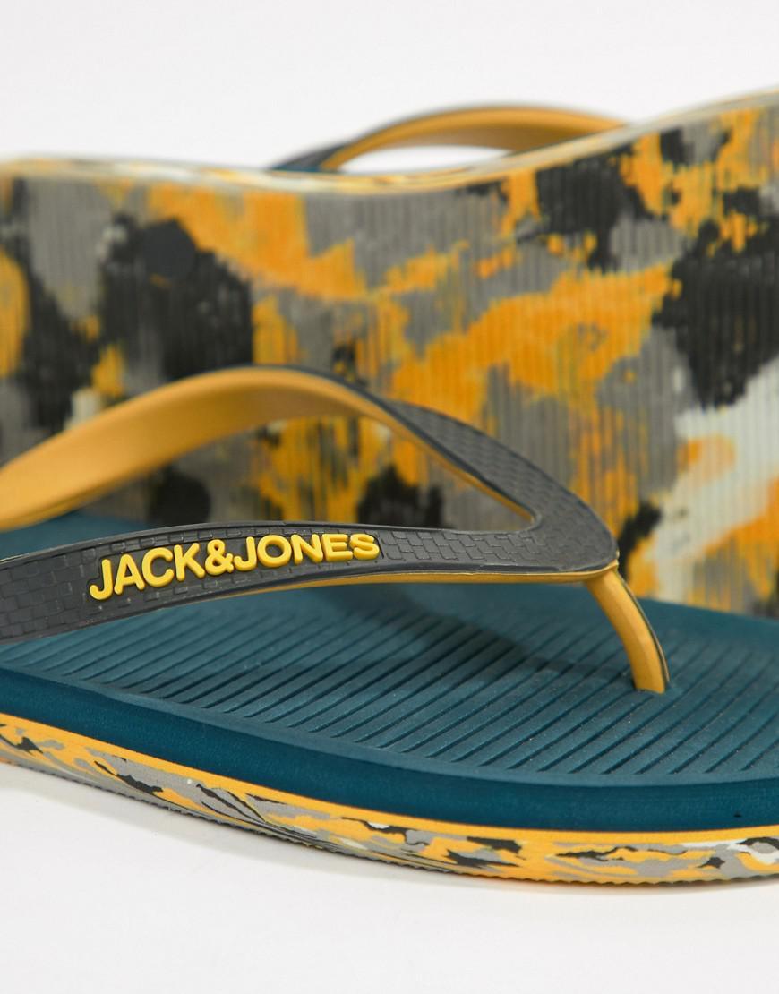 9b1b5d034c9 Jack   Jones Flip Flops With Moulded Sole in Blue for Men - Lyst