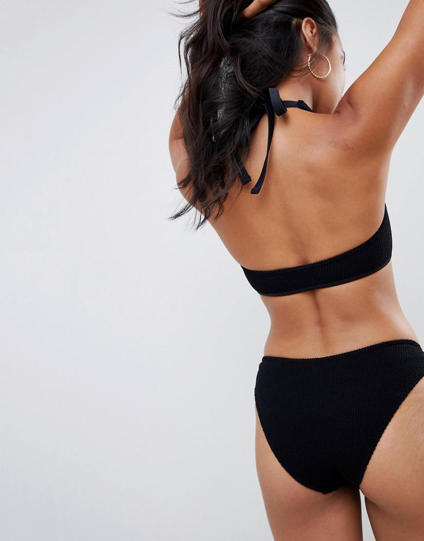 b3fa1afa73591 ASOS Mix And Match Crinkle Hipster Bikini Bottom In Black in Black - Save  33% - Lyst