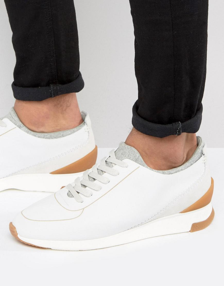 75a0fcdfe Lyst - H by Hudson Sime Suede Sneakers in White for Men