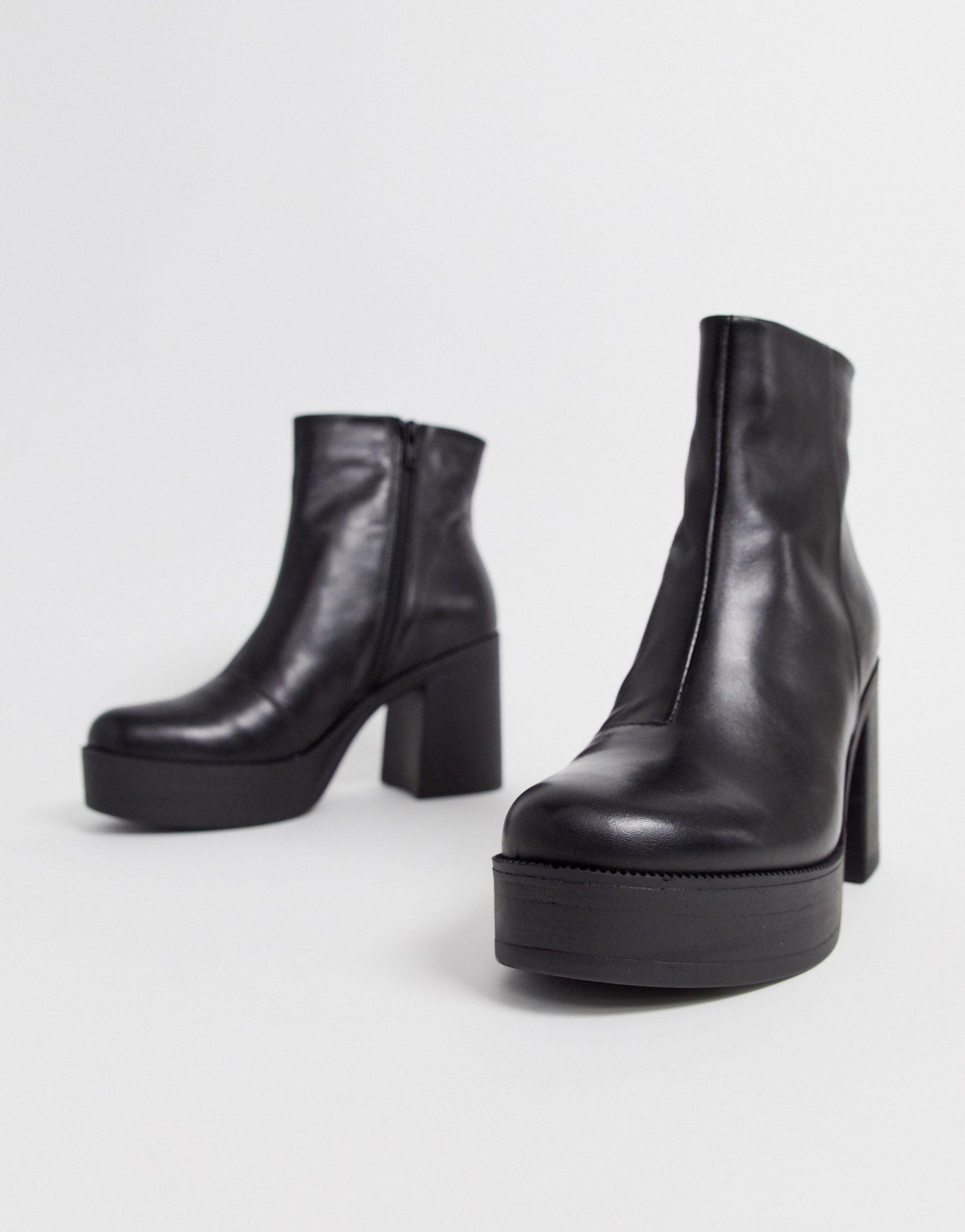 ALDO Platform Heel Leather Boot in