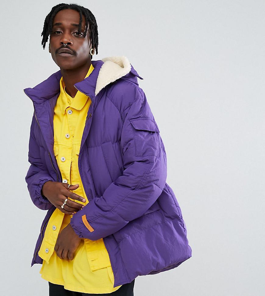 Lyst - The New County Oversized Puffer Jacket In Purple in Purple ... 5d554b4e8