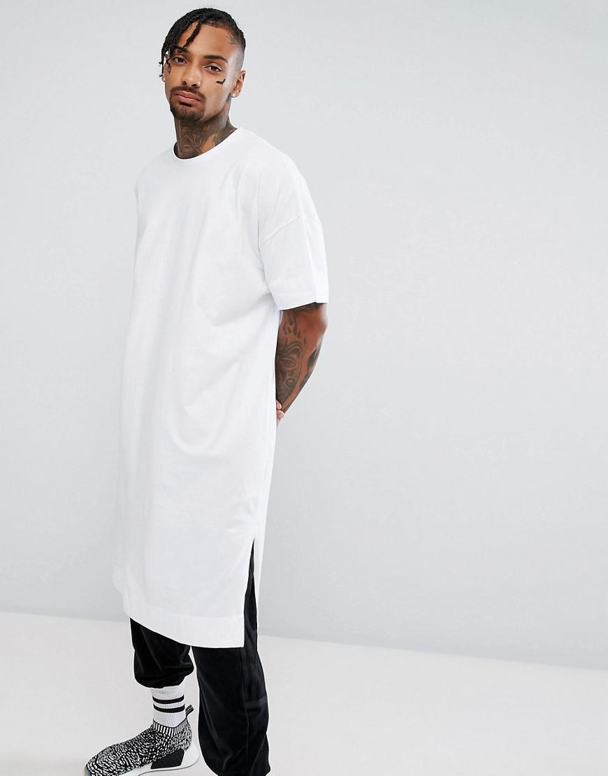Long Asos Ultra Homme White Shirt Pour T Coloris En Oversize FTlK1cJ
