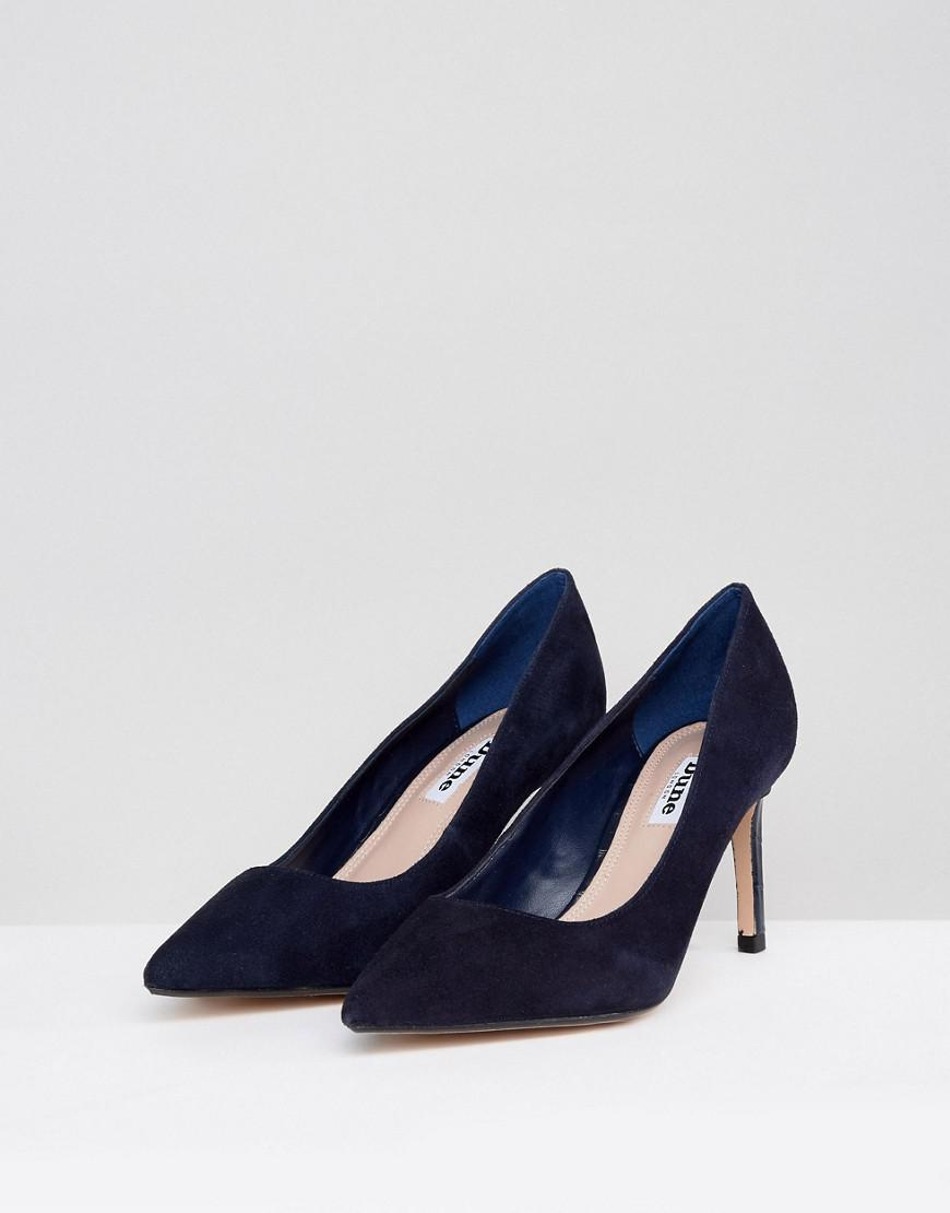 3b30c56d05e Dune Pointed Toe Mid Heel Court Shoe in Blue - Lyst