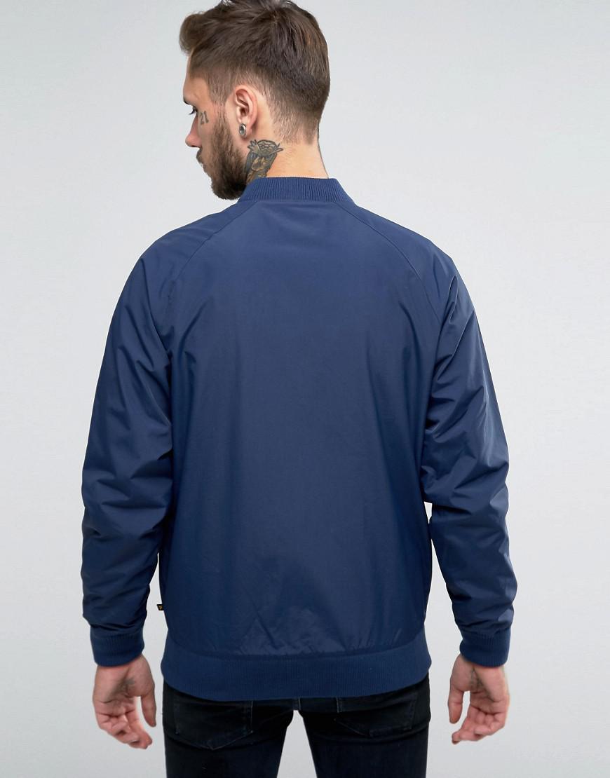 Farah Synthetic Bellinger Nylon Bomber Jacket In Navy in Blue for Men