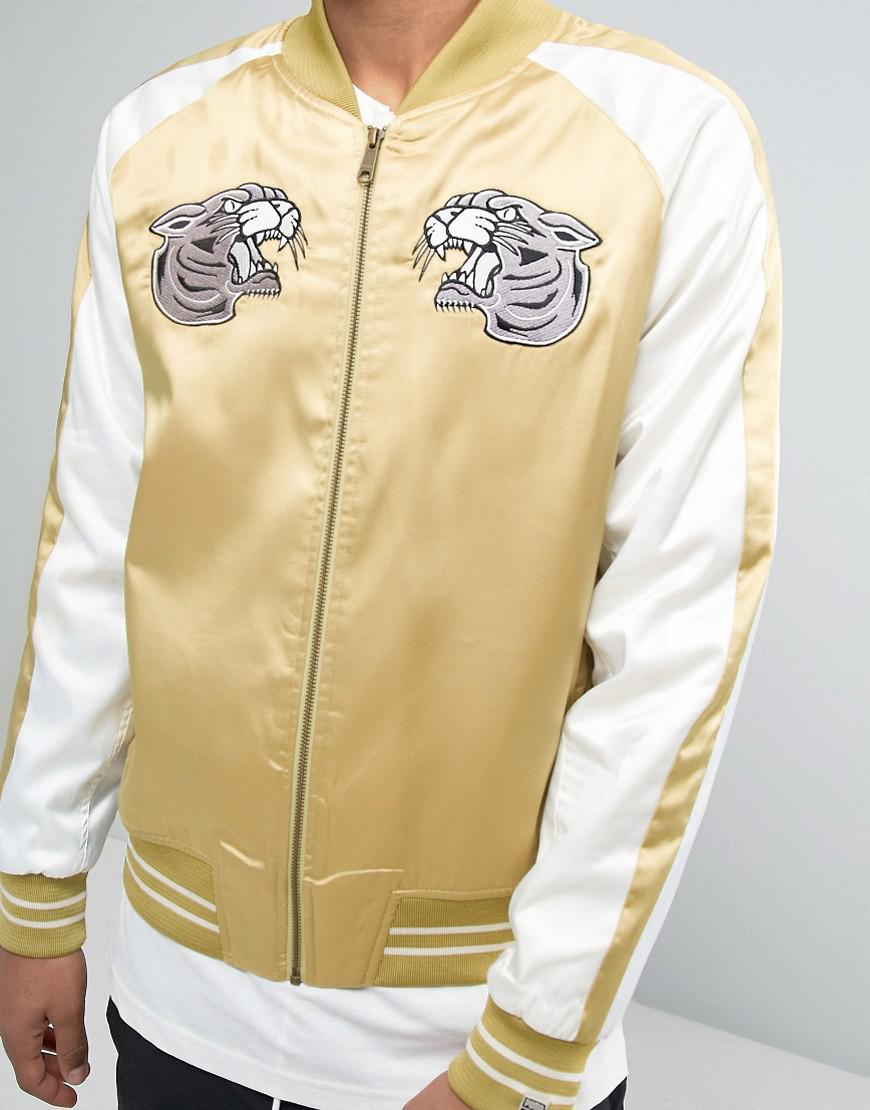 ae41d359362 Lyst - PUMA Embroided Souvenir Jacket In Beige Exclusive To Asos in ...