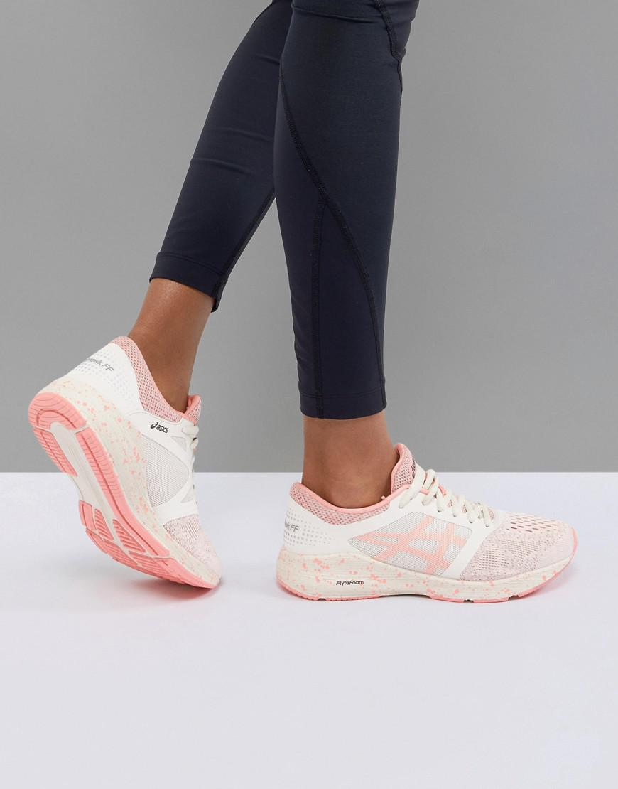759f965335 Asics Running Roadhawk Trainers In Cherry Blossom in Red - Lyst