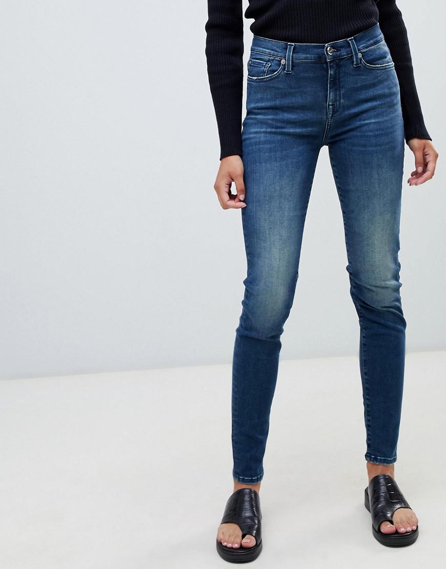 817b4c4fb6 Lyst - SELECTED Sophie Skinny Jeans in Blue