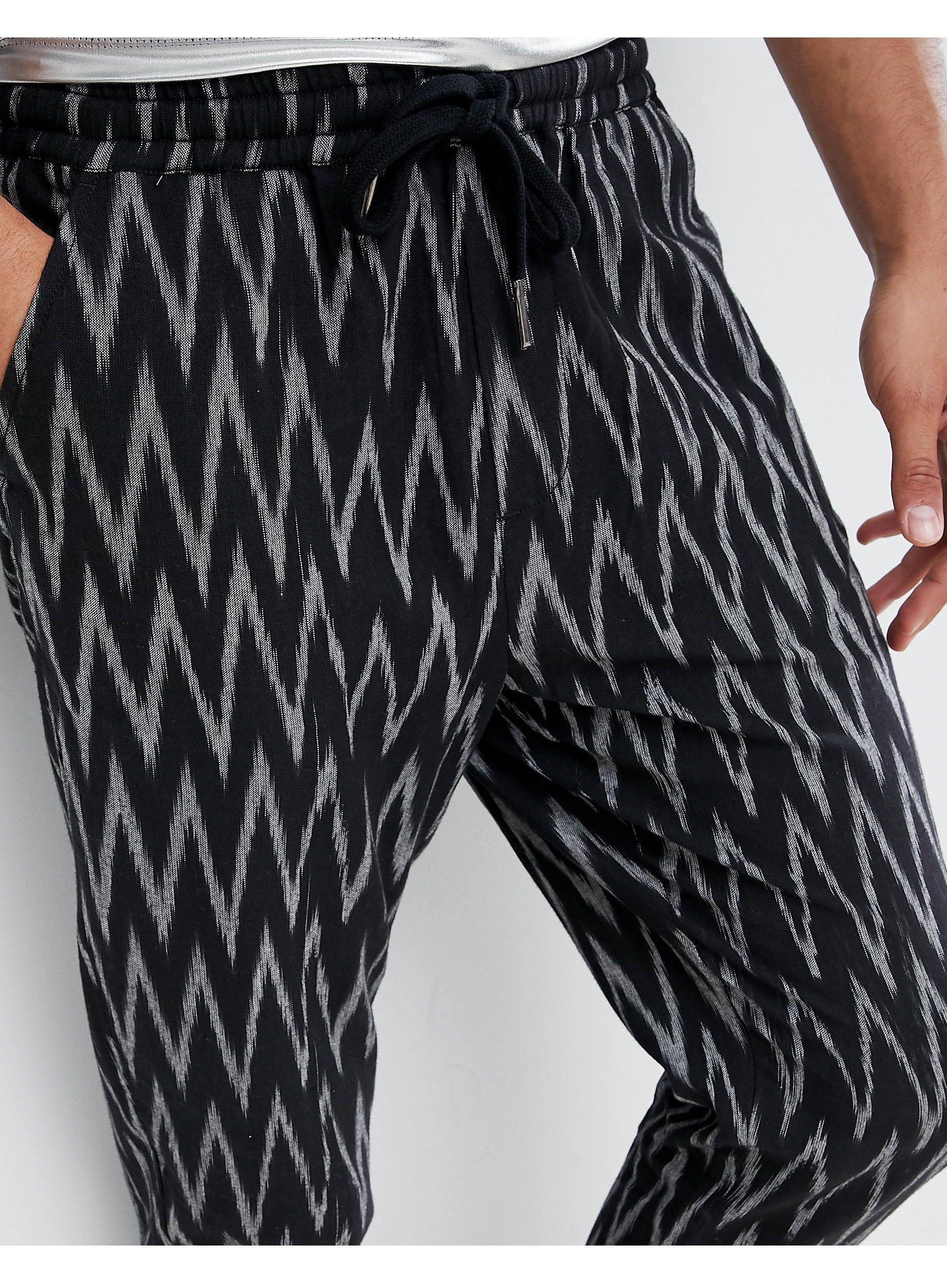 ASOS Denim Tall Festival Tapered Trousers in Black for Men
