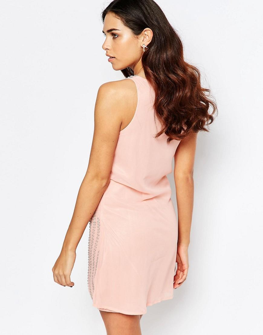 Lyst a star is born pleated skater dress with for A star is born riviera maison