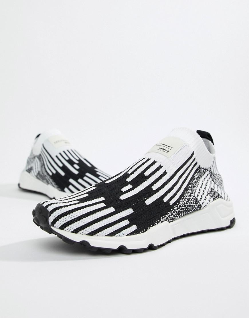 sports shoes b5d89 2c1ce Adidas Originals - White Eqt Support Pk Sneakers In Black B37524 for Men -  Lyst. View fullscreen