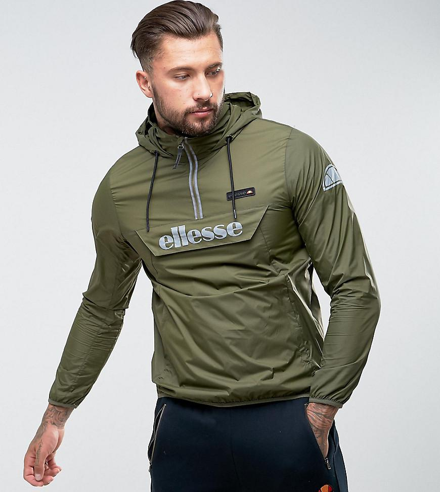 Ellesse Overhead Jacket With Reflective Logo In Green In