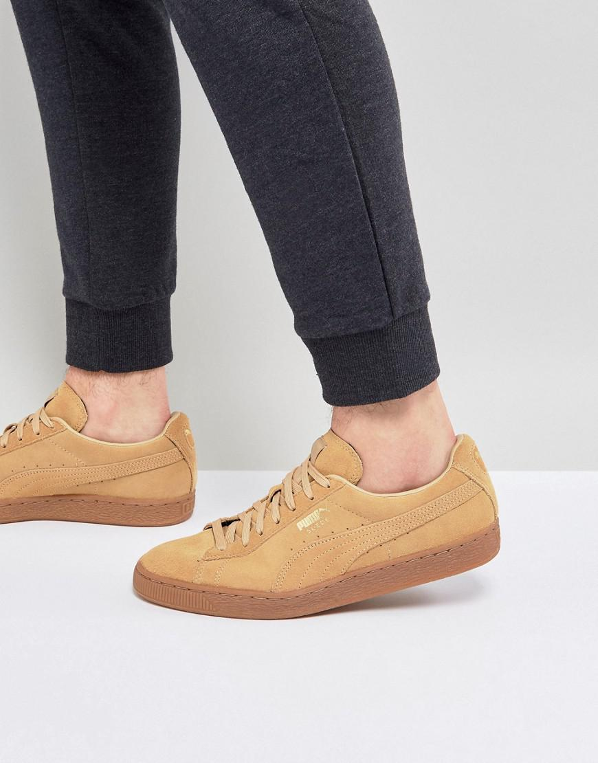 new products 1aa25 b11c0 PUMA Multicolor Suede Gum Sole Trainers In Tan 36324219 for men