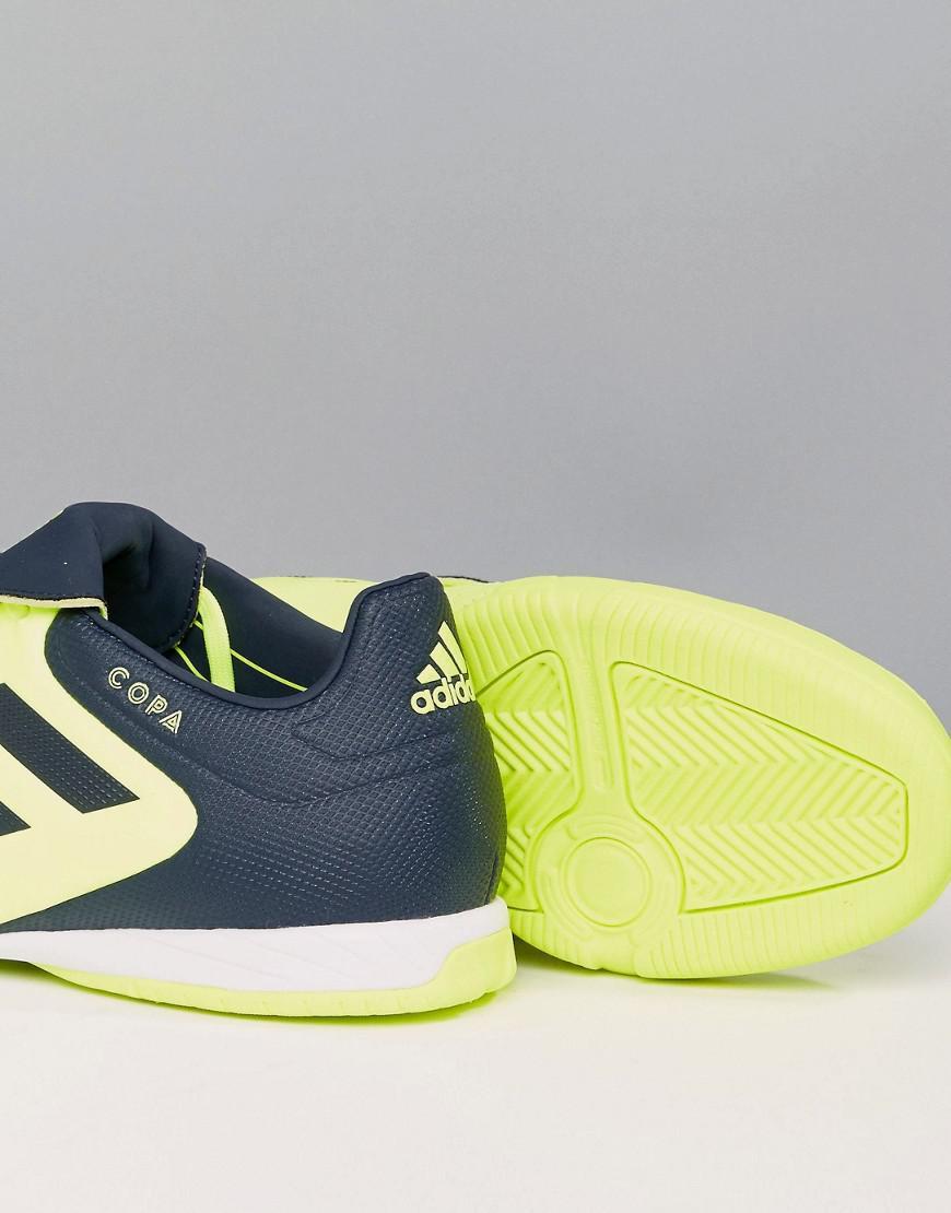 lyst adidas tango indoor football copa formatori in giallo