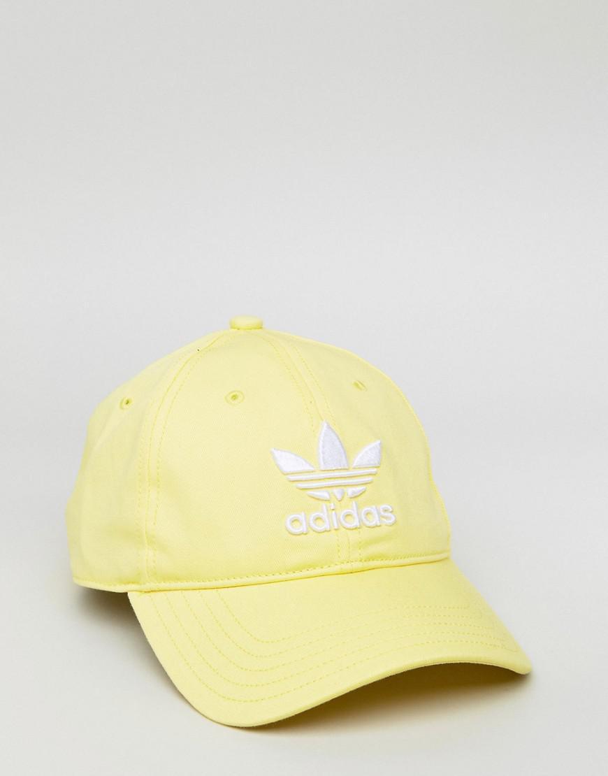 b95603aa adidas Originals Adicolor Trefoil Cap In Yellow Cd6974 in Yellow for ...