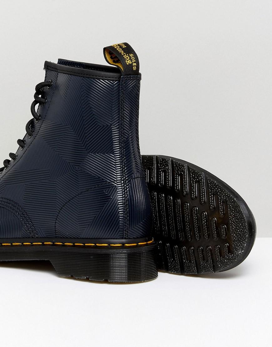 1460 8-Eye Graphic Embossed Boots - Navy Dr. Martens Choice 70dsbN