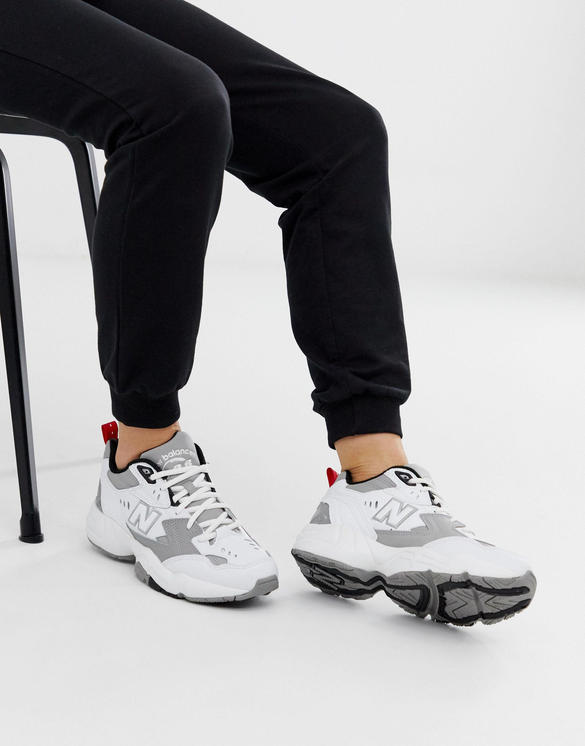 New Balance Leather 608 White And Gray
