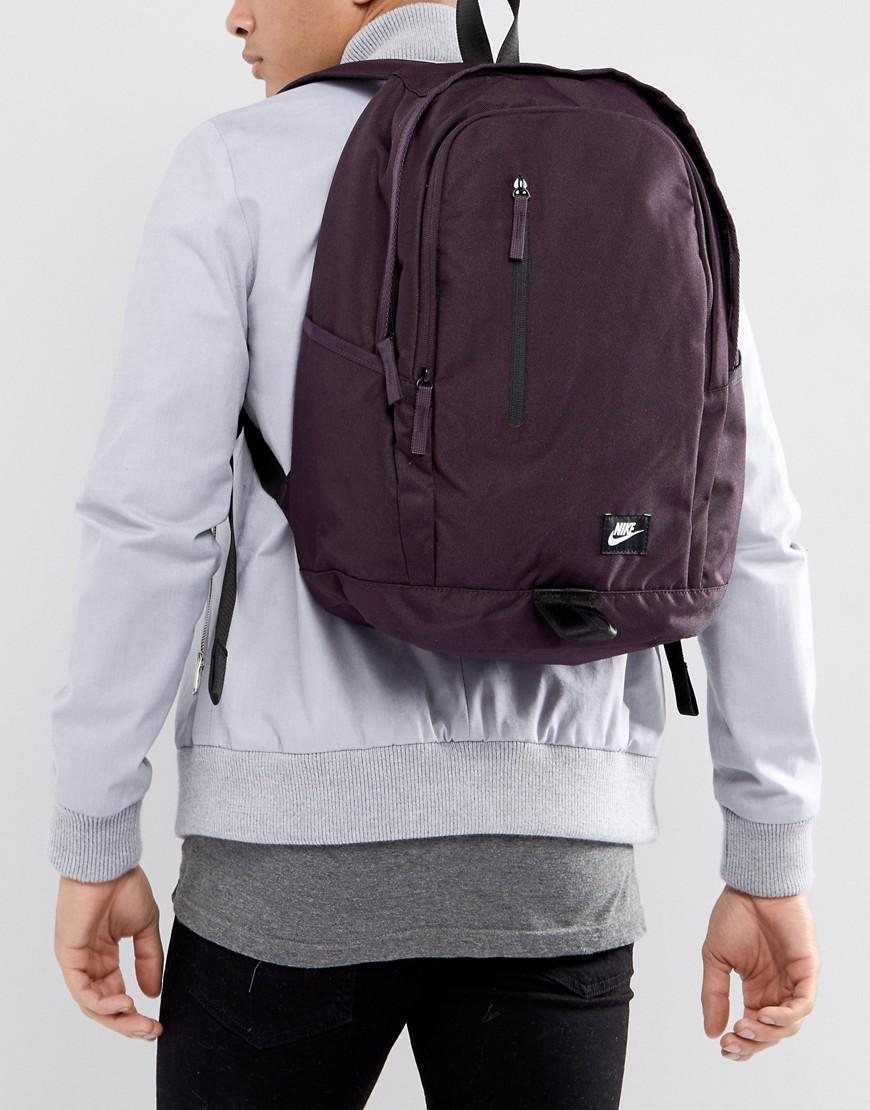 Nike Canvas All Access Backpack In Purple Ba4857-652 for Men