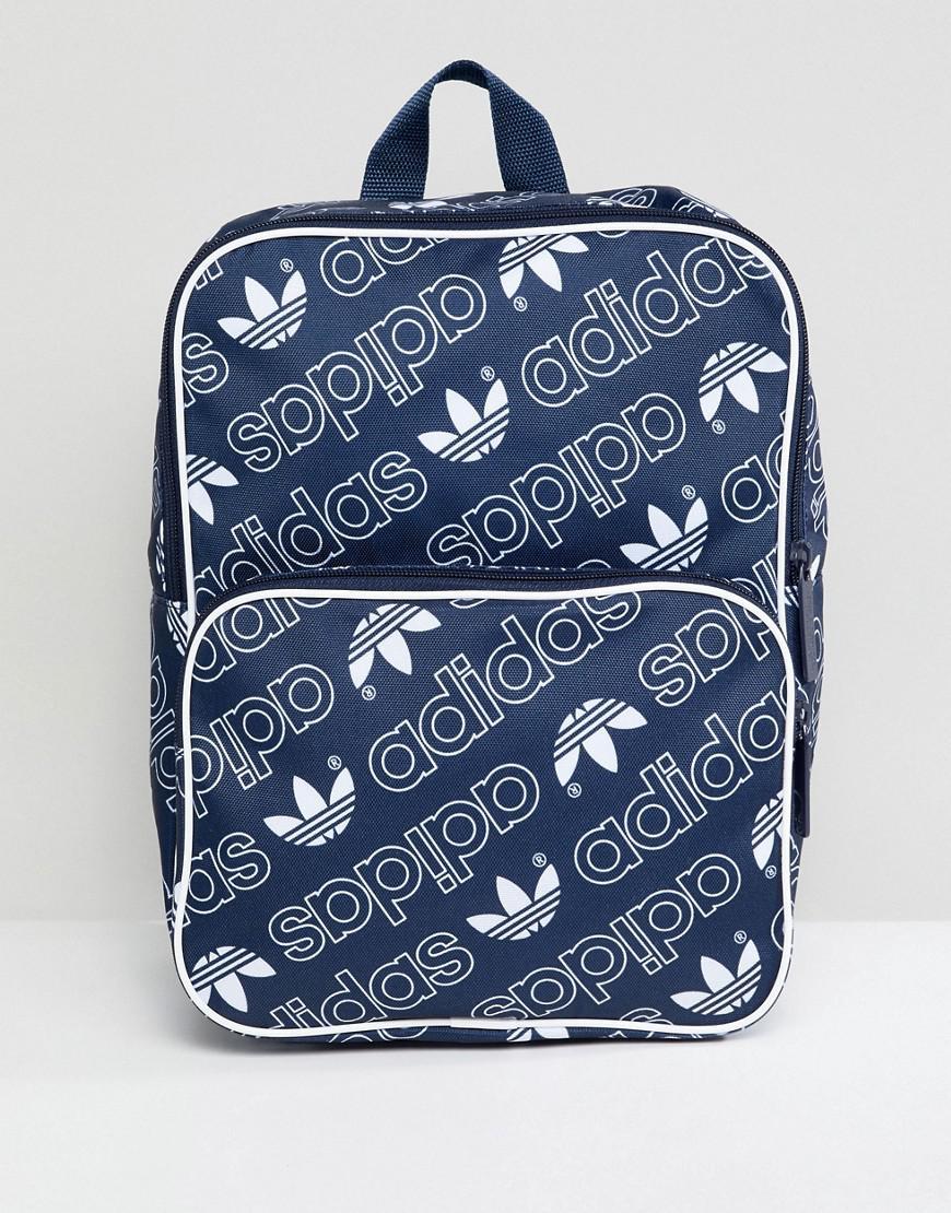 Classique À Sur En Adidas Black Sac Originals Logo Coloris Moyen L'ensemble Avec Dos 7gb6yf