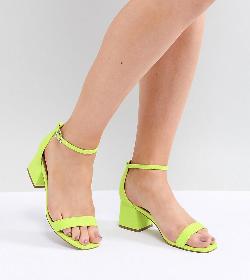 6e390e8feca2 ASOS Honeydew Wide Fit Heeled Sandals in Green - Lyst