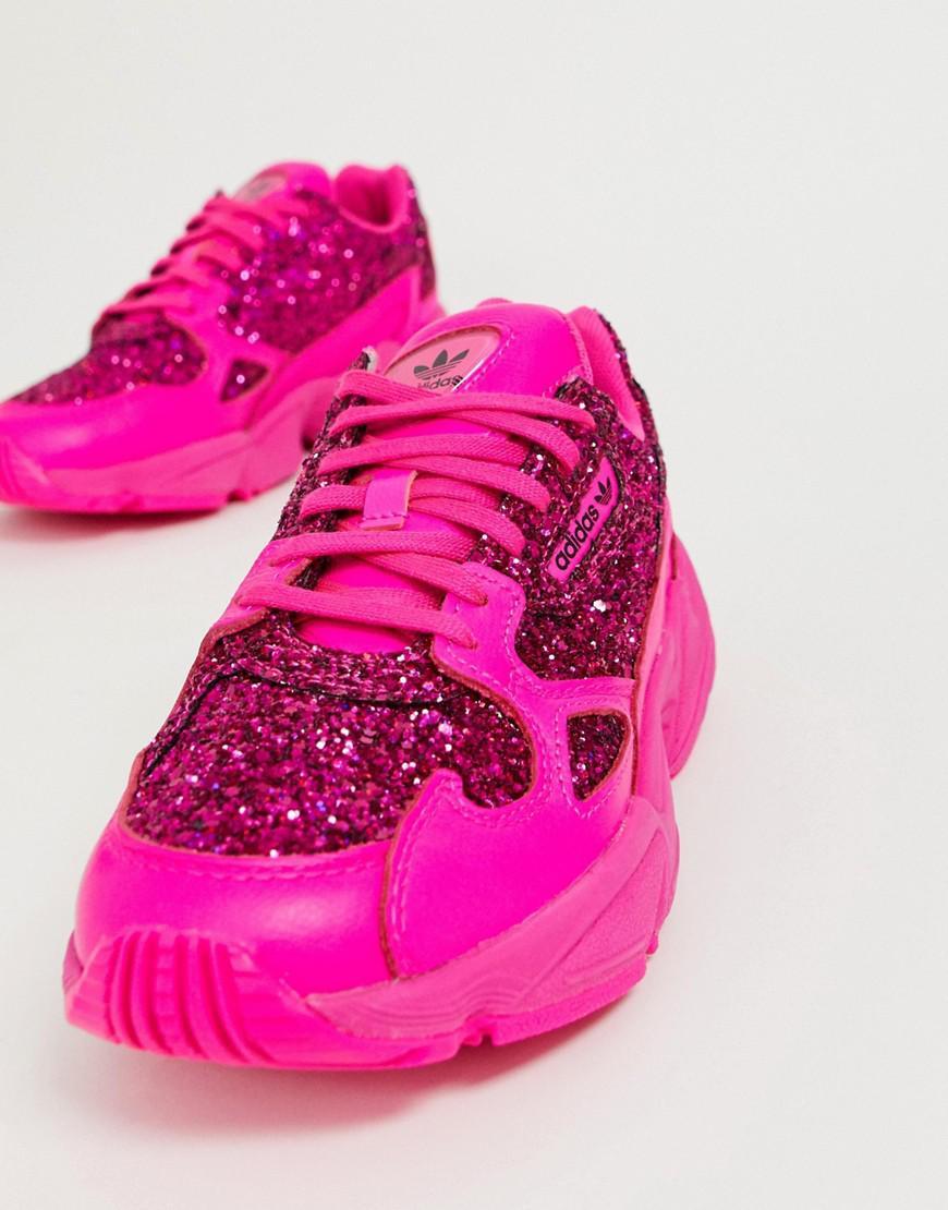 Premium Pink Glitter Falcon Sneakers - Lyst