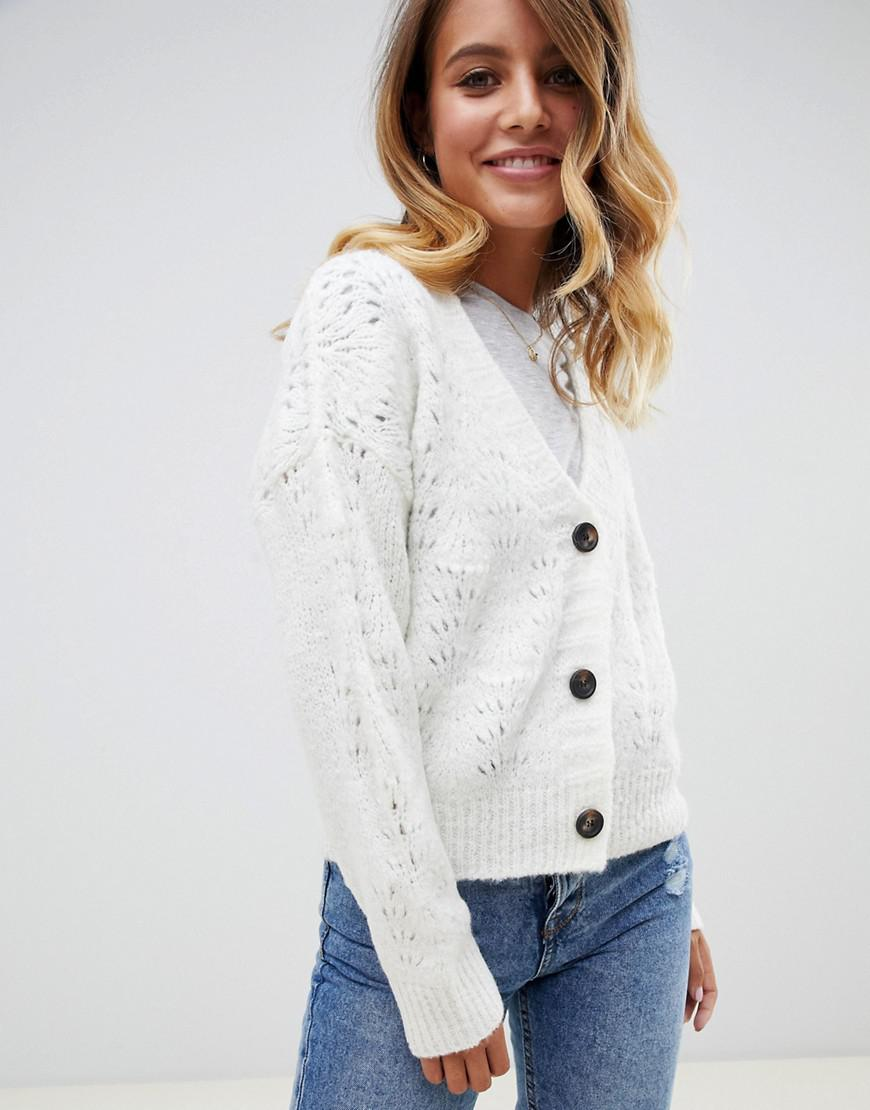 45f6ed2152 ASOS. Women s Chunky Cardigan With Pointelle Stitch