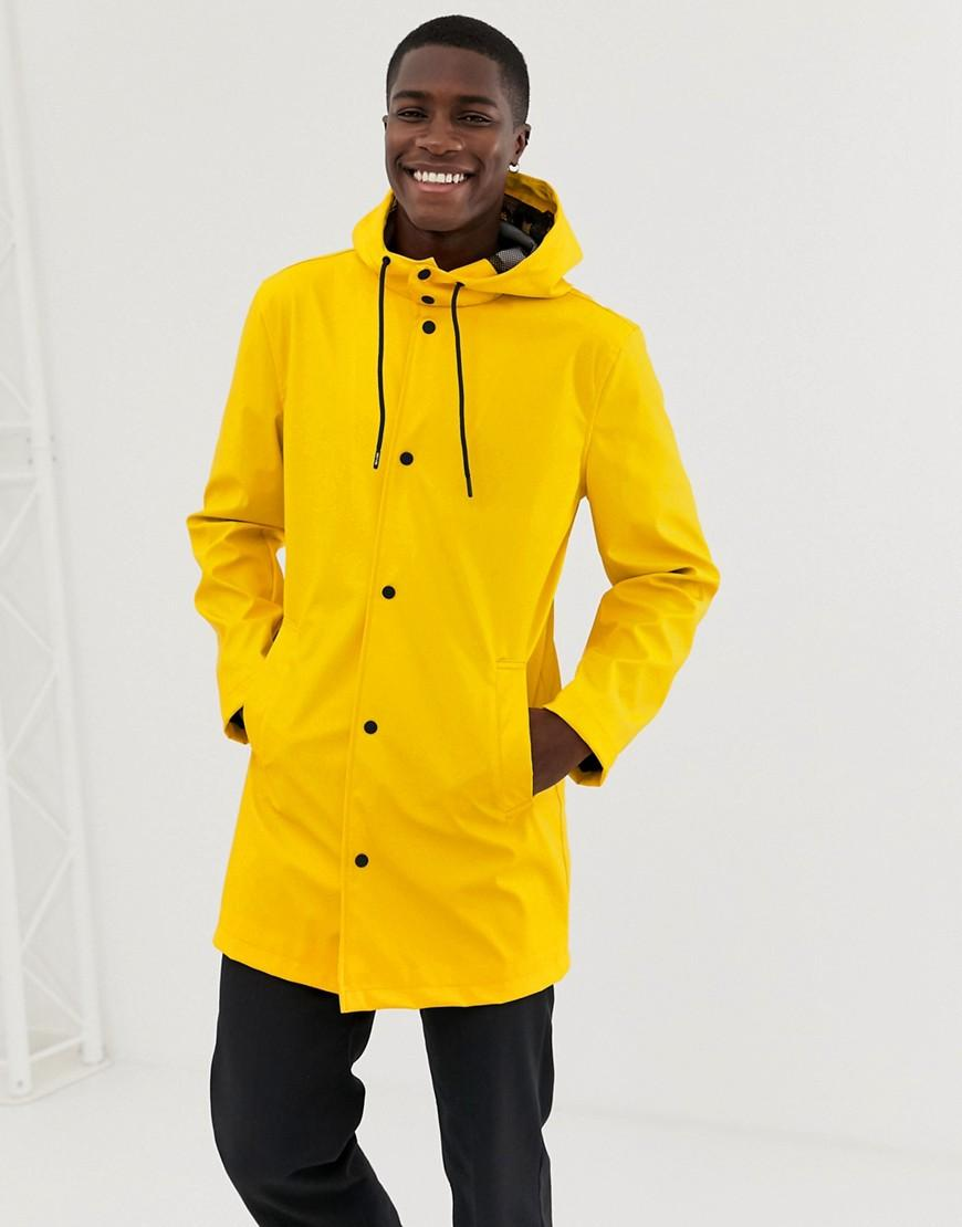 d081e9512f Only & Sons Rain Coat in Yellow for Men - Lyst