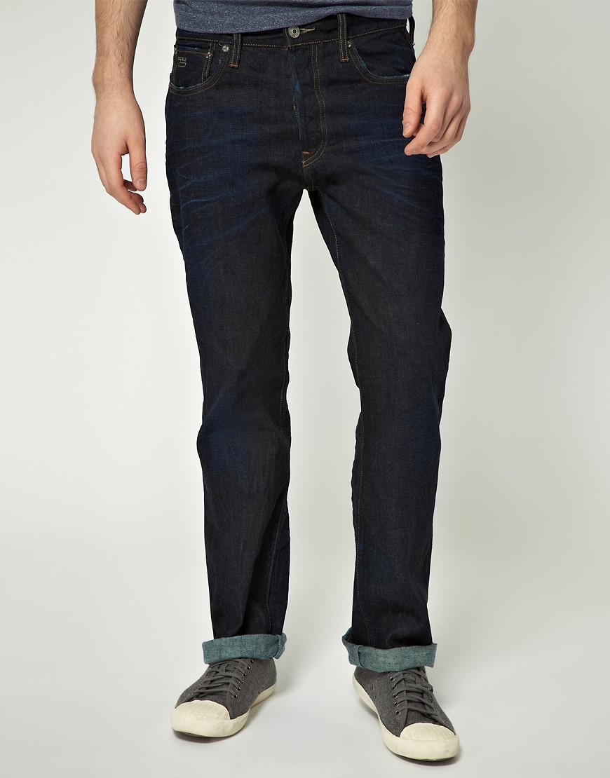 lyst g star raw g star 3301 loose jeans in blue for men. Black Bedroom Furniture Sets. Home Design Ideas