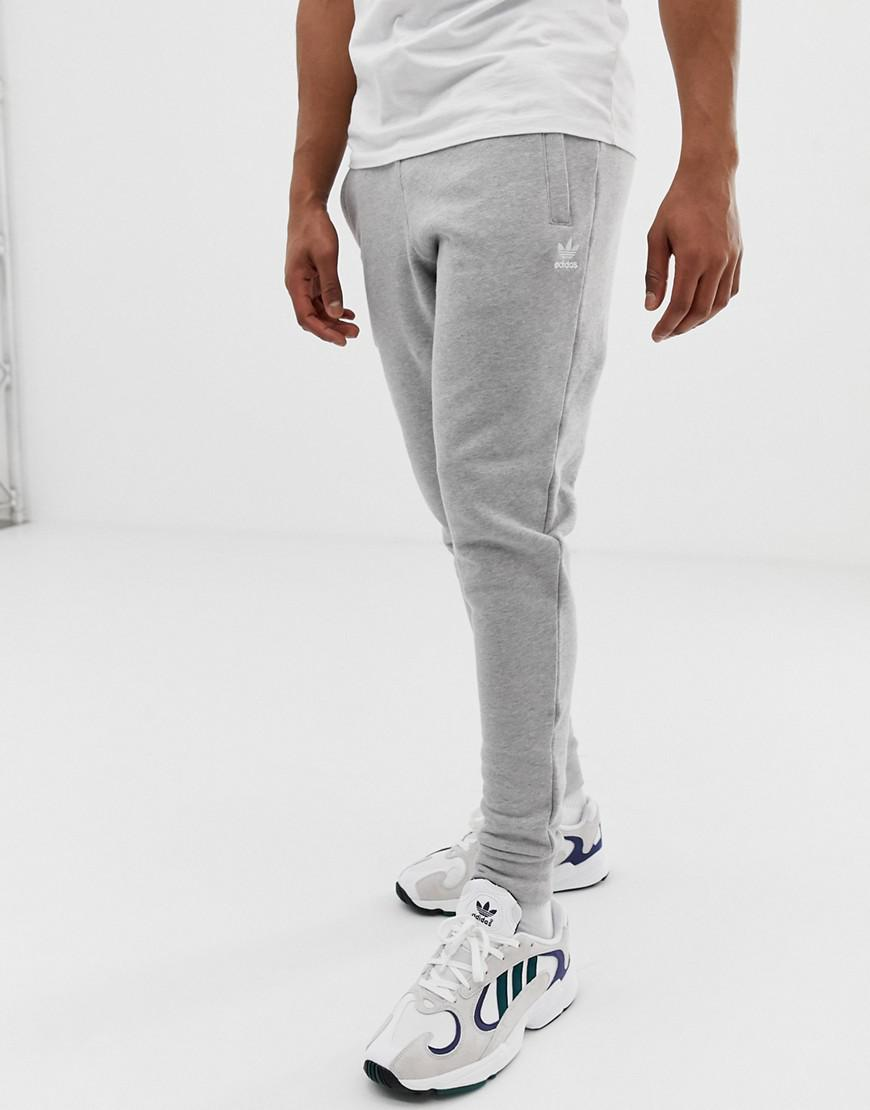 6c55185833d adidas Originals Joggers With Logo Embroidery Grey in Gray for Men ...
