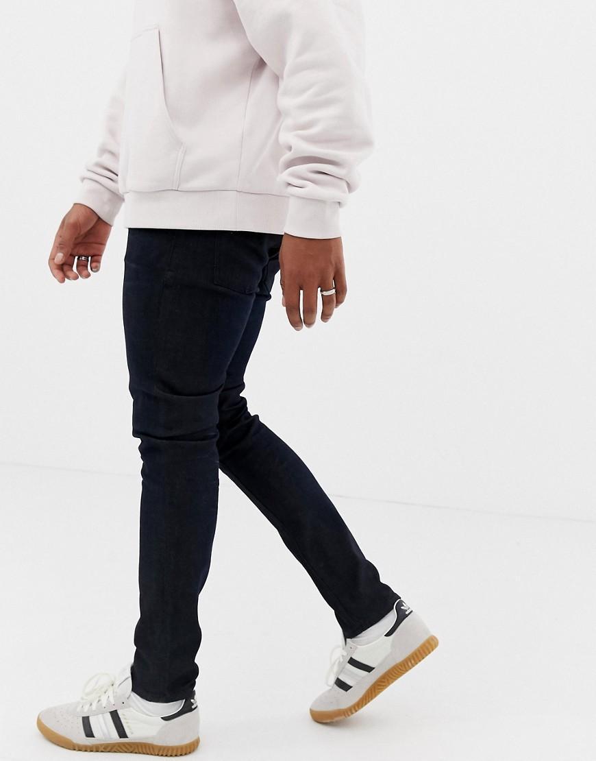 Nudie Jeans Denim Skinny Lin in het Zwart voor heren