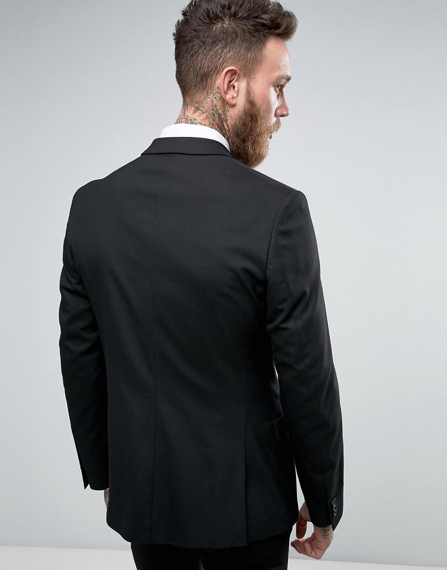 New Look Synthetic Skinny Fit Suit Jacket in Black for Men