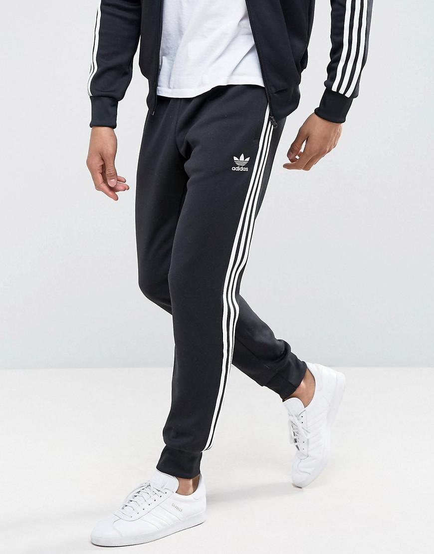 5a571937 Adidas Originals Black Superstar Cuffed Track Pants Aj6960 for men