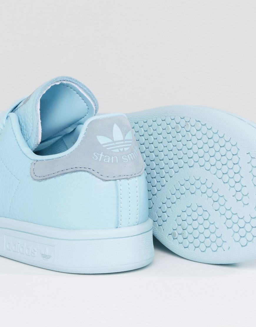 san francisco c2c04 cd0d2 Adidas Originals Originals Icy Blue Stan Smith Sneakers