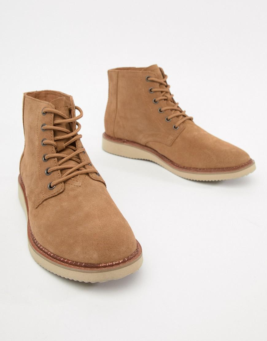 28547eed4a8e TOMS Porter Water Resistant Lace Up Boots In Brown in Brown for Men - Lyst