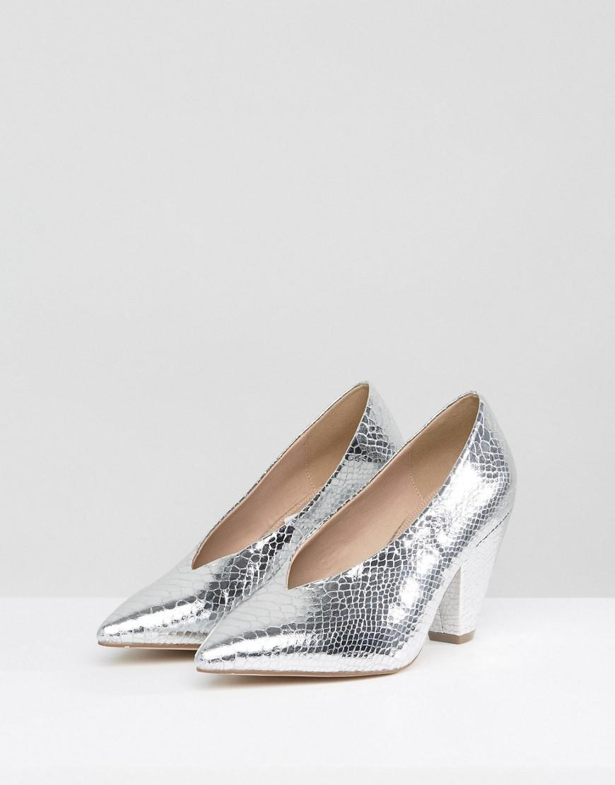 671cc0db0092 ASOS Asos Shiraz Pointed Heels in Metallic - Lyst