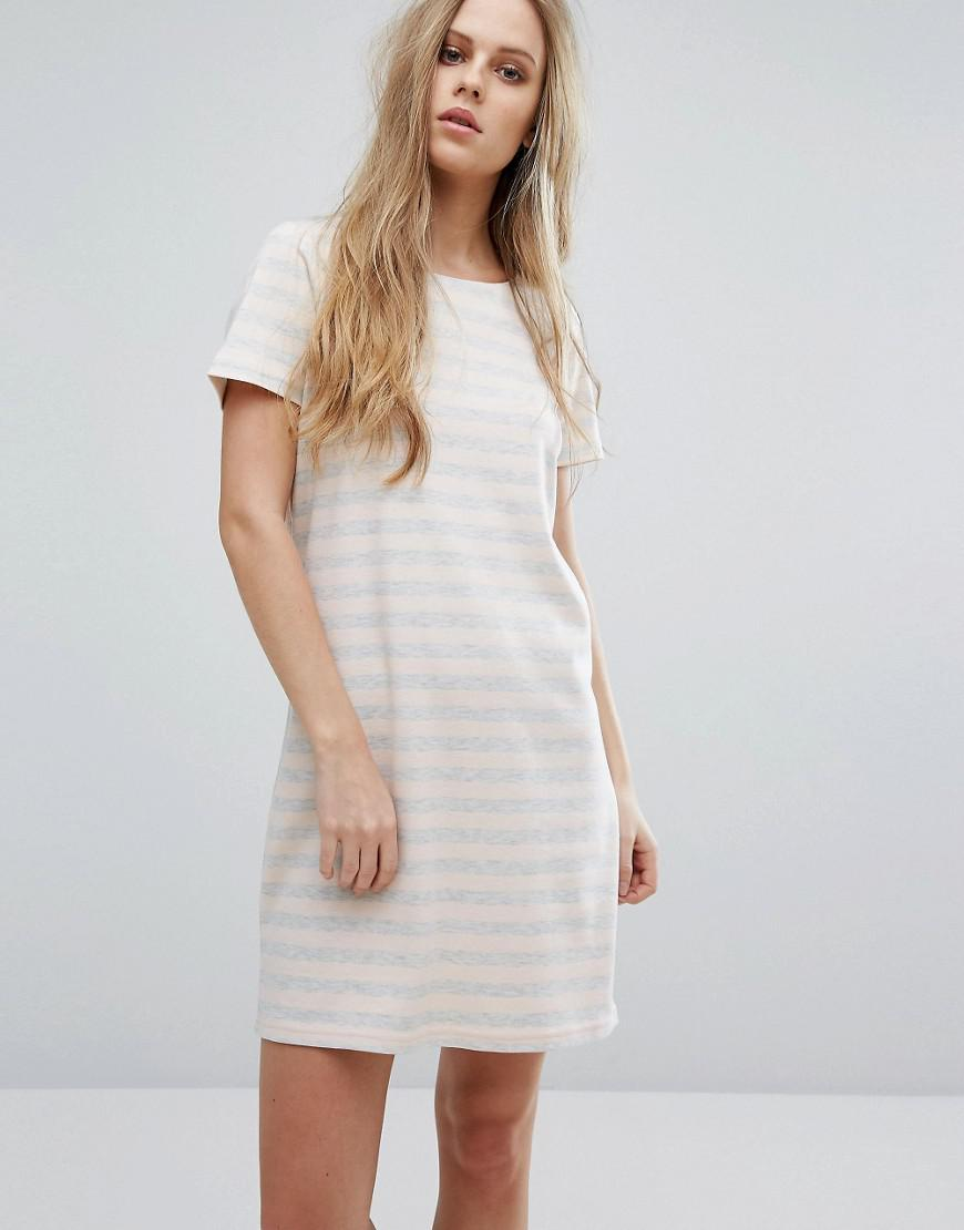 Vila Scoop Neck Striped Dress Clearance Big Discount Purchase For Sale q68bQhGz