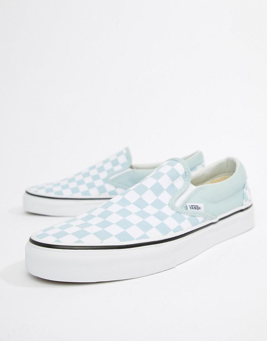discount very cheap get to buy online Vans Classic Checkerboard Slip-On In Blue VA38F7QCK u4m96NeL7