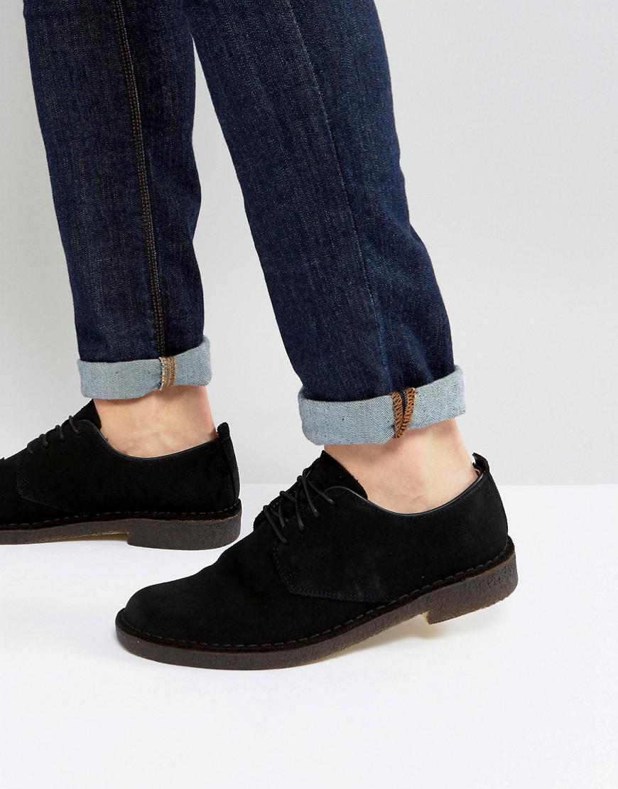 Lyst Clarks Desert London Shoes In Black For Men