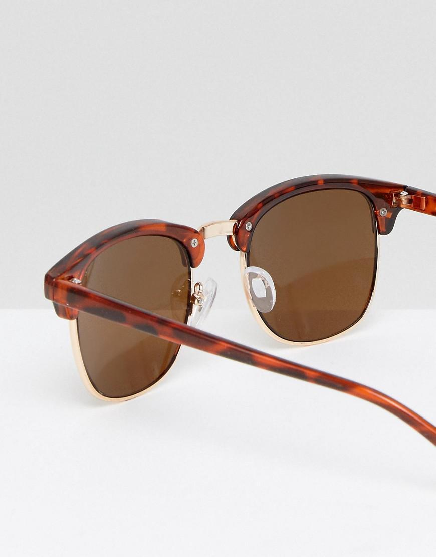 Classic Retro Sunglasses - Brown Asos SiC7FLrQ