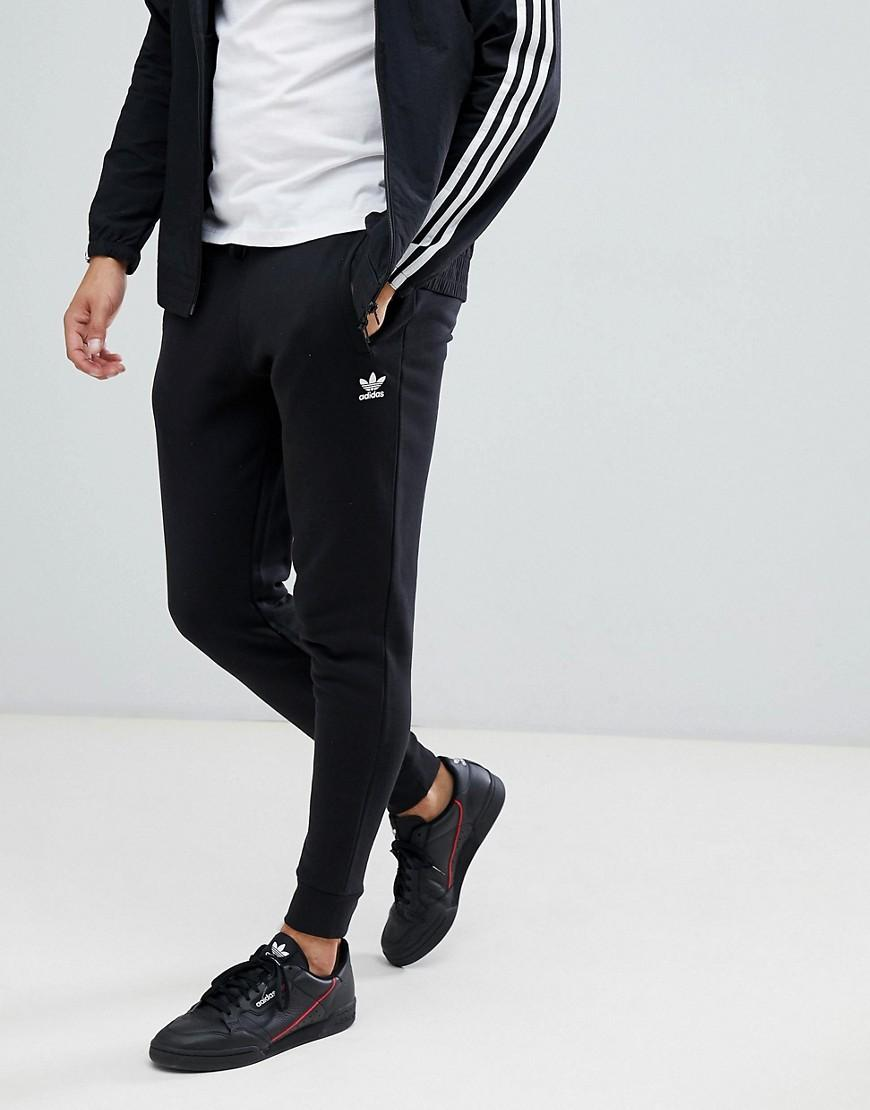 adidas Originals Joggers With Logo Embroidery in Black for Men - Lyst