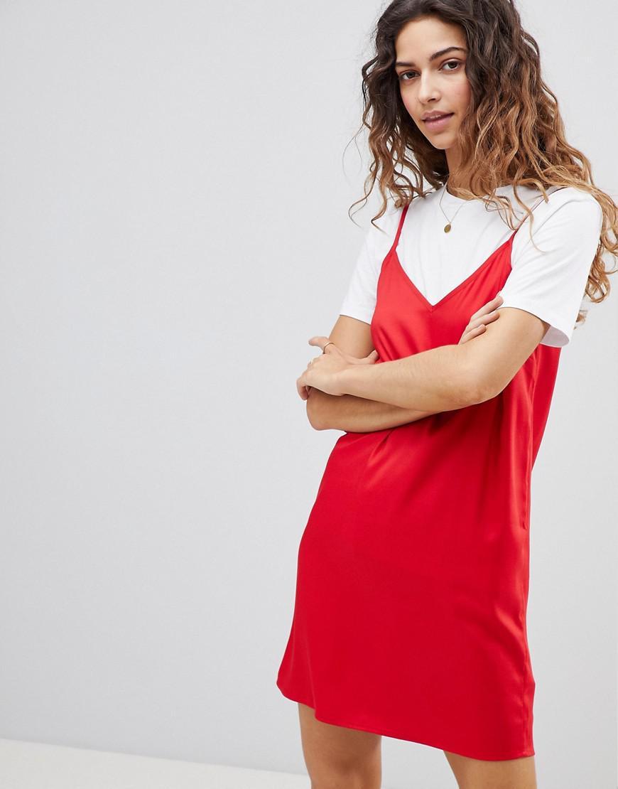 e6ab5e6655365 Lyst - ASOS Asos Mini Cami Slip Dress in Red