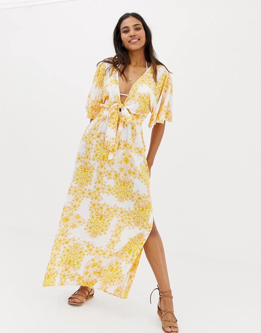 9230ee448e2e5 Seafolly Sunflower Maxi Beach Dress In Yellow in Yellow - Lyst