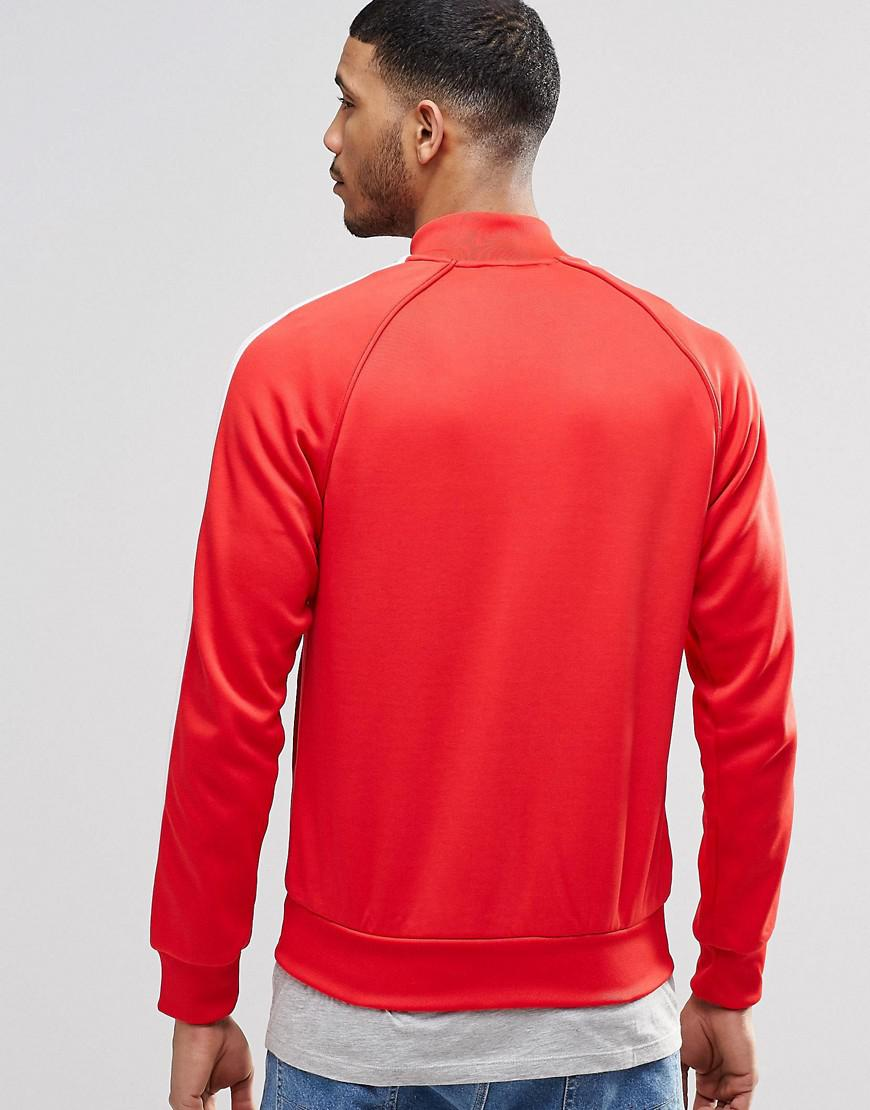 f96622486c53e Adidas Originals Red Trefoil Superstar Track Jacket Ay7062 for men