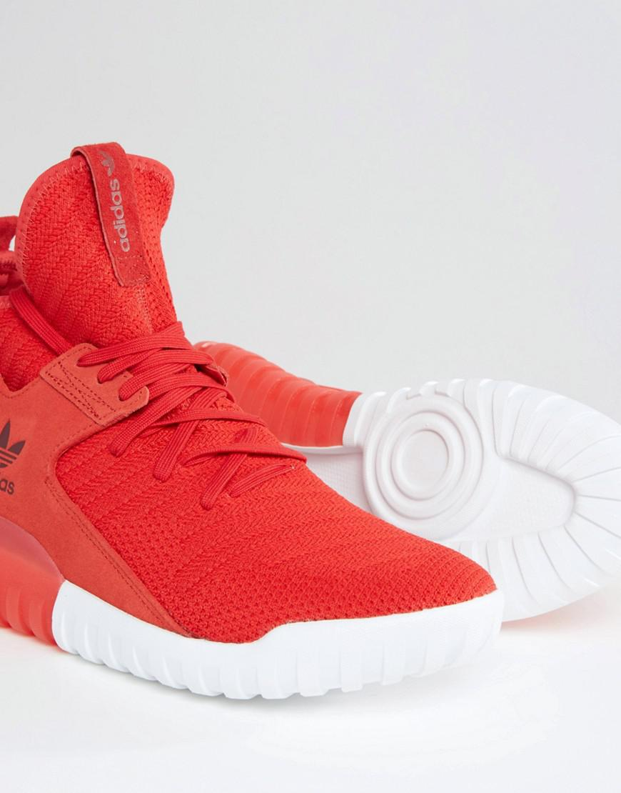 best loved 2ae7a fc959 Adidas Originals Tubular X Primeknit Trainers In Red S80129 for men