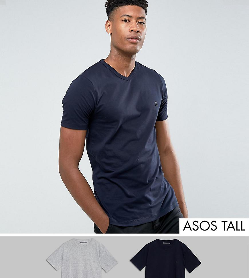 Pictures Cheap Price TALL 2 Pack V Neck T-Shirt - Multi French Connection Many Kinds Of 9vKDXv4mS7