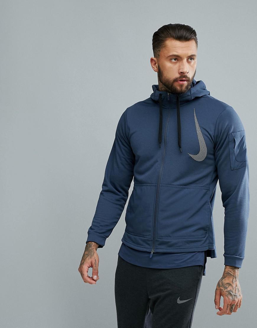 b9eef0f8ed97d3 Nike  project X  Dry Fleece Hoodie In Navy Aa4656-471 in Blue for ...
