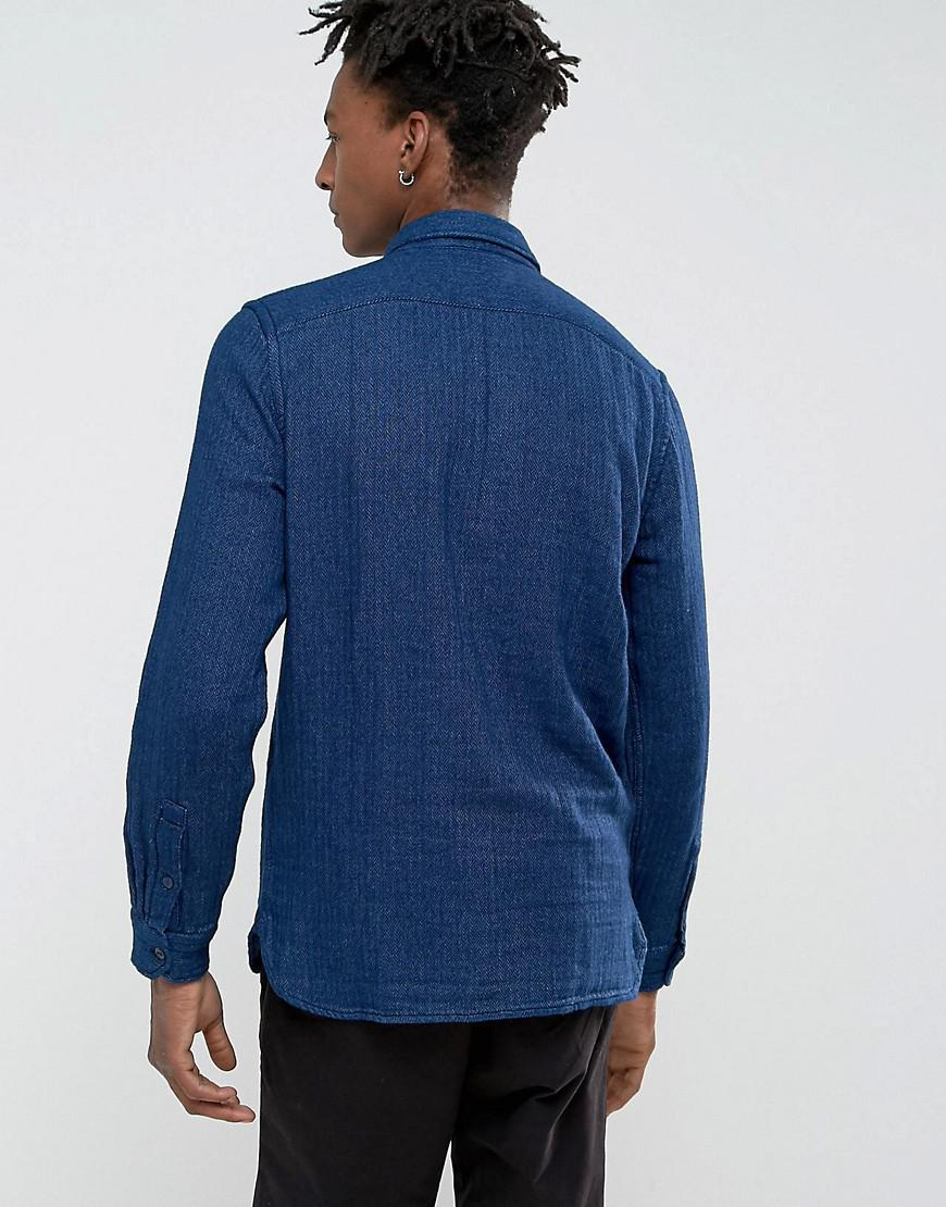 Levi's Cotton Jackson Worker Over Shirt Tulip Dark Indigo in Blue for Men