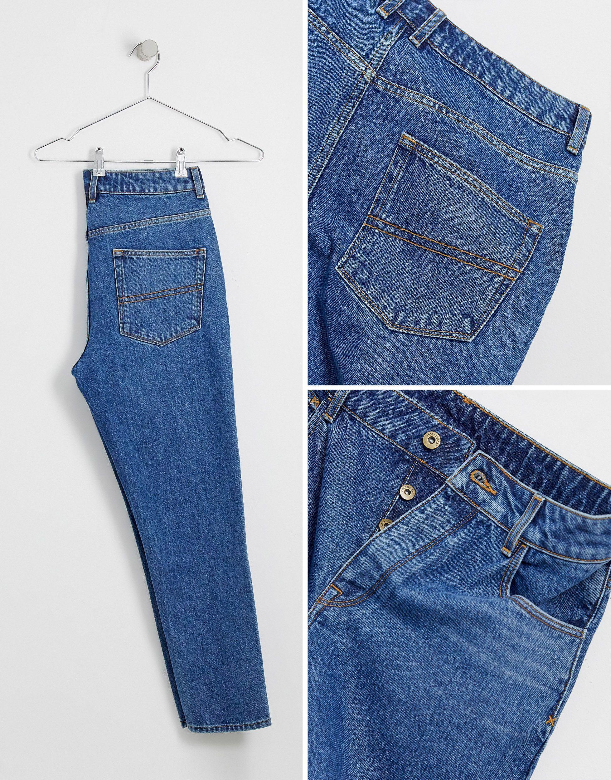 Collusion Denim X003 - Jeans Met Smaltoelopende Pijpen in het Blauw voor heren