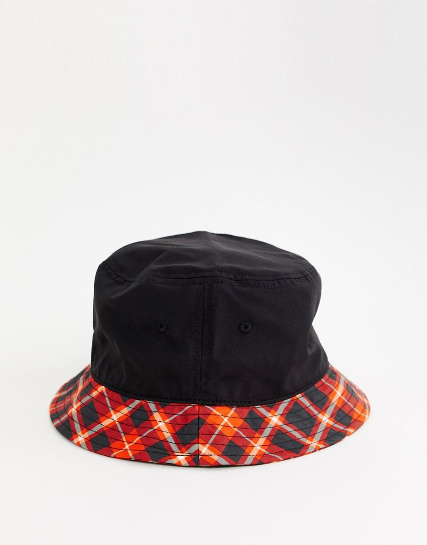 3aee5bb05e3 Lyst - PUMA Exclusive Red Check Bucket Hat in Red